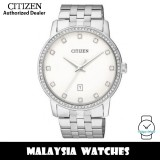(100% Original) Citizen BI5031-59A Quartz Analog White Dial Mineral Glass Stainless Steel Women's Watch
