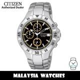 (100% Original) Citizen AN3330-51F Quartz Chronograph Black Dial Mineral Glass Stainless Steel Men's Watch (3 Years Citizen Warranty)