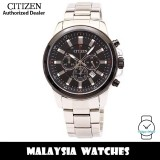 (100% Original) Citizen AN8089-55E Quartz Chronograph Black Dial Mineral Glass Silver-Tone Stainless Steel Men's Watch (3 Years Citizen Warranty)