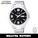 (100% Original) Citizen BF2001-55E Quartz Analog Black Dial Mineral Glass Stainless Steel Men's Watch (3 Years Citizen Warranty)