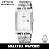 (100% Original) Citizen BH1370-51A Quartz Analog White Dial Mineral Glass Stainless Steel Men's Watch (3 Years Citizen Warranty)