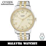 (100% Original) Citizen BI0994-55P Quartz Analog Gold-Tone Dial Mineral Glass Two-Tone Stainless Steel Men's Watch (3 Years Citizen Warranty)