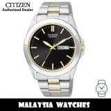 (100% Original) Citizen BF0584-56E Quartz Analog Black Dial Mineral Glass Two-Tone Stainless Steel Men's Watch (3 Years Citizen Warranty)