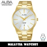 ALBA AG8K80X Quartz Analog Sapphire Glass 50M Silver Dial Gold-Tone Stainless Steel Men's Watch AG8K80 AG8K80X1 (from SEIKO Watch Corporation)