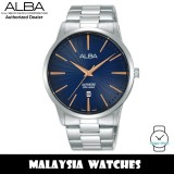 ALBA AG8K81X Quartz Analog Sapphire Glass Blue Dial Silver-Tone Stainless Steel Men's Watch AG8K81 AG8K81X1 (from SEIKO Watch Corporation)