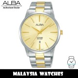ALBA AG8K83X Quartz Analog Sapphire Glass Gold-Tone Dial Two-Tone Stainless Steel Men's Watch AG8K83 AG8K83X1 (from SEIKO Watch Corporation)