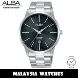 ALBA AG8K87X Quartz Analog Sapphire Glass Black Dial Silver-Tone Stainless Steel Men's Watch AG8K87 AG8K87X1 (from SEIKO Watch Corporation)