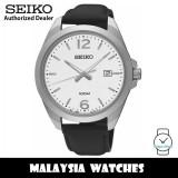 Seiko Classic SUR213P1 Quartz Analog White Dial Hardlex Crystal Glass Stainless Steel Case Black Leather Strap Men's Watch