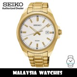 Seiko Classic SUR280P1 Quartz Analog Silver White Dial Hardlex Crystal Glass Gold-Tone Stainless Steel Men's Watch