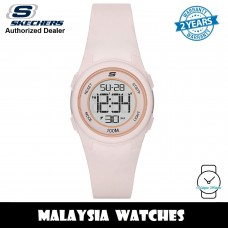 (OFFICIAL WARRANTY) Skechers SR2104 Women's Vicksburg Quartz Digital Blush Pink Polycarbonate Strap Watch (2 Years Warranty)