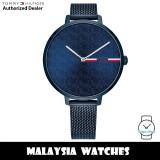 (100% Original) Tommy Hilfiger 1782159 Alexa Quartz Analog Dark Blue Stainless Steel Mesh Women's Watch (2 Years International Warranty)