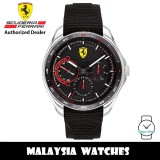 (100% Original) Scuderia Ferrari 0830683 SpeedRacer Stainless Steel Case Black Silicone Strap Men's Watch (2 Years Scuderia Ferrari Warranty)