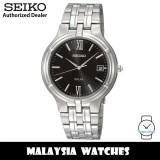 Seiko SNE027P1 Solar Power Analog Black Dial Hardlex Crystal Glass Silver-Tone Stainless Steel Men's Watch