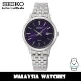 Seiko SUR651P1 Neo Classic Analog Quartz Dark Blue Dial Hardlex Crystal Glass Stainless Steel Woman's Watch