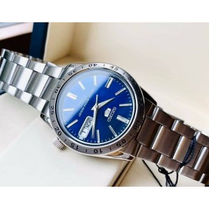 Seiko 5 SNKD99K1 Automatic Blue Dial See Through Case Back Hardlex Crystal Glass Stainless Steel Men's Watch