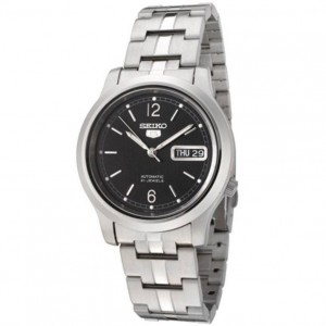 Seiko 5 SNK799K1 Automatic See-thru Back Black Textured Dial Stainless Steel Men's Watch
