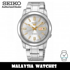 Seiko 5 SNKK09K1 Automatic See-thru Back Silver-Tone Dial Stainless Steel Men's Watch