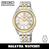 Seiko 5 SNKL36K1 Automatic See-thru Back Silver-Tone Dial Two-Tone Stainless Steel Men's Watch