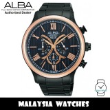 Alba AT3608X Prestige Quartz Chronograph Black Dial Black Stainless Steel Men's Watch (from SEIKO Watch Corporation)