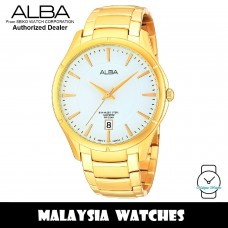 Alba AS9374X Quartz White Dial Sapphire Glass Gold-Tone Stainless Steel Men's Watch AS9374 AS9374X1 (from SEIKO Watch Corporation)