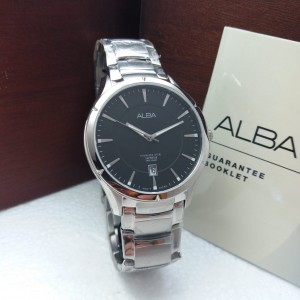 Alba AS9385X Quartz Black Dial Sapphire Glass Stainless Steel Men's Watch AS9385 AS9385X1 (from SEIKO Watch Corporation)