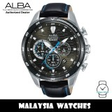 Alba AT3C27X SignA Quartz Chronograph Dark Grey Dial Black Leather Strap Men's Watch AT3C27 AT3C27X1 (from SEIKO Watch Corporation)