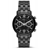 MARC BY MARC JACOBS MBM5065 Fergus Chronograph Black-Tone Men's Watch (Black)