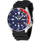 Seiko 5 Sports Automatic Diver Men's Black Silicon Strap Watch SKX009K1