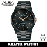 Alba AG8K89X Quartz Black Dial Sapphire Glass Black-Tone Stainless Steel Men's Watch AG8K89 AG8K89X1 (from SEIKO Watch Corporation)