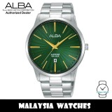 Alba AG8K91X Quartz Green Dial Sapphire Glass Stainless Steel Men's Watch AG8K91 AG8K91X1 (from SEIKO Watch Corporation)