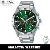 Alba AT3H21X Active Chronograph Quartz Green Dial Stainless Steel Men's Watch AT3H21 AT3H21X1 (from SEIKO Watch Corporation)