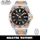 Alba AG8L17X Active Quartz Dark Grey Pattern Dial Two-Tone Stainless Steel Men's Watch AG8L17 AG8L17X1 (from SEIKO Watch Corporation)