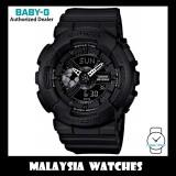 (OFFICIAL WARRANTY) Casio Baby-G BA-110BC-1A Standard Analog & Digital Women's Resin Watch BA-110 / BA-110BC / BA-110BC-1 / BA-110BC-1ADR (Black)