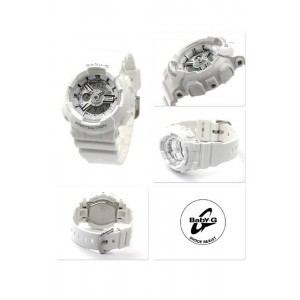 (OFFICIAL MALAYSIA WARRANTY) Casio Baby-G BA-110-7A3 Standard Analog & Digital Women's Resin Watch (White)