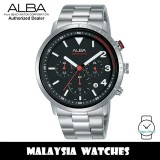 Alba AT3F45X SignA Quartz Chronograph Black Dial Silver-Tone Stainless Steel Men's Watch AT3F45 AT3F45X1 (from SEIKO Watch Corporation)