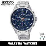 Seiko SKS625P1 Quartz Chronograph Blue Dial Hardlex Crystal Glass Silver-Tone Stainless Steel Men's Watch