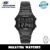 (OFFICIAL WARRANTY) Skechers SR5132 Men's Hosford Quartz Digital Black Dial Black Stainless Steel Watch (2 Years Warranty)
