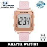 (OFFICIAL WARRANTY) Skechers SR6203 Naylor Quartz Digital Rose Gold Alloy Case Pink Silicone Strap Watch (2 Years Warranty)