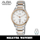 Alba AS9378X Quartz Analog White Dial Sapphire Glass Stainless Steel Men's Watch AS9378 AS9378X1 (from SEIKO Watch Corporation)