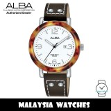 Alba AH7P41X Fashion Quartz White Dial Stainless Steel Case Brown Leather Strap Women's Watch AH7P41 AH7P41X1 (from SEIKO Watch Corporation)