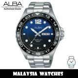 Alba AV3541X Active Quartz Analog Dark Blue Dial Stainless Steel Men's Watch AV3541 AV3541X1 (from SEIKO Watch Corporation)