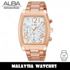 Alba AT3692X Quartz Chronograph Silver White Dial Rose-Gold Tone Stainless Steel Women's Watch AT3692 AT3692X1 (from SEIKO Watch Corporation)