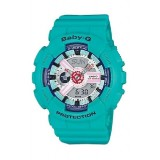 (OFFICIAL MALAYSIA WARRANTY) Casio Baby-G BA-110SN-3A Standard Analog & Digital Women's Resin Watch (Tiffany Blue)