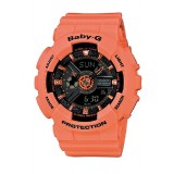 (OFFICIAL MALAYSIA WARRANTY) Casio Baby-G BA-111-4A2 Standard Analog & Digital Women's Resin Watch (Orange)