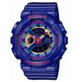 (OFFICIAL MALAYSIA WARRANTY) Casio Baby-G BA-112-2A Standard Analog & Digital Women's Resin Watch (Blue)