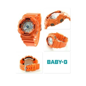 (OFFICIAL MALAYSIA WARRANTY) Casio Baby-G BA-110SN-4A Standard Analog & Digital Women's Resin Watch (Orange)