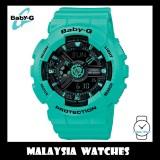 (OFFICIAL WARRANTY) Casio Baby-G BA-111-3A Standard Analog & Digital Women's Neon Mint Resin Watch BA111-3A