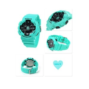(OFFICIAL MALAYSIA WARRANTY) Casio Baby-G BA-111-3A Standard Analog & Digital Women's Resin Watch (Tiffany Blue)