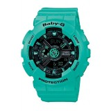 (OFFICIAL MALAYSIA WARRANTY) Casio Baby-G BA-111-3A Standard Analog & Digital Women's Resin Watch (Tiffany Blue)