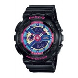 (OFFICIAL MALAYSIA WARRANTY) Casio Baby-G BA-112-1A Standard Analog & Digital Women's Resin Watch (Black)